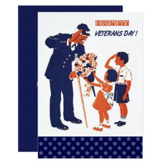 Vintage Design Veterans Day Flat Cards