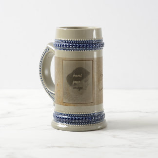 Vintage design with your photo. Add your text. Beer Stein