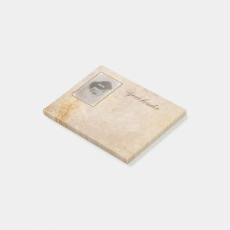 Vintage design with your photo. Add your text. Post-it Notes