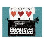 Vintage Desktop - Typewriter Postcard