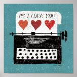 Vintage Desktop - Typewriter Poster