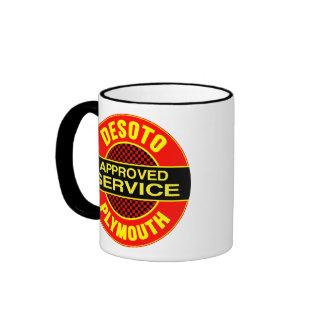 Vintage DeSoto service sign Coffee Mugs