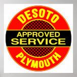 Vintage DeSoto service sign Poster