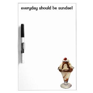 Vintage Dessert; Hot Fudge Ice Cream Sundae Cherry Dry-Erase Boards