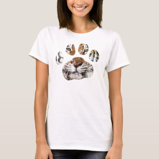 Vintage dessicated tiger paw tee for ladies