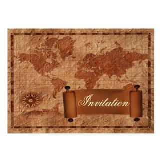 vintage destination wedding invitation
