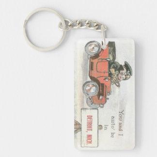 Vintage Detroit Auto Keychain