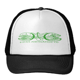 Vintage Detroit & Cleveland Steam Navigation Green Trucker Hats