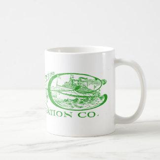 Vintage Detroit & Cleveland Steam Navigation Green Coffee Mug