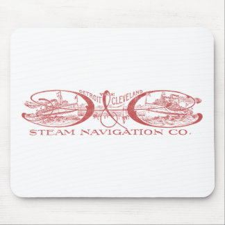 Vintage Detroit & Cleveland Steam Navigation Red Mouse Mat