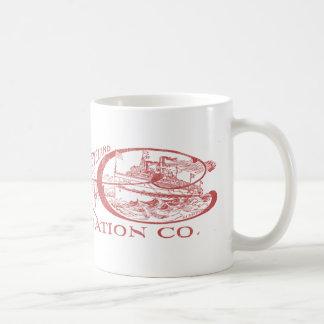 Vintage Detroit & Cleveland Steam Navigation Red Coffee Mug