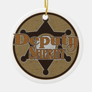 Vintage Deupty Sheriff Ornaments