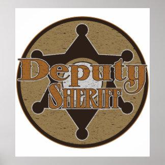 Vintage Deupty Sheriff Print