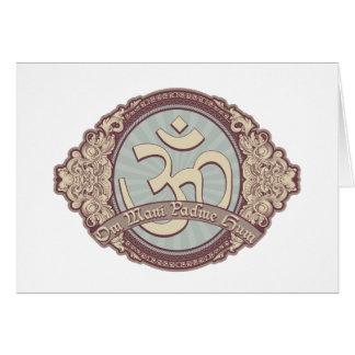 Vintage Devanagari OM Logo Card