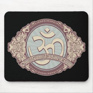 Vintage Devanagari OM Logo Mouse Pad