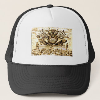 Vintage Devil Mammon Time for Greed Trucker Hat