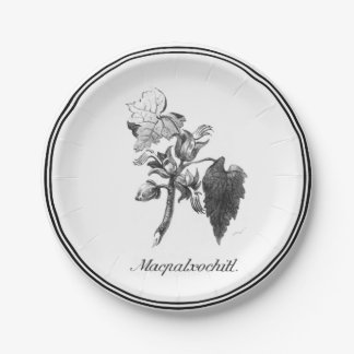 Vintage Devil's hand tree etching paper plate