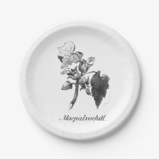 Vintage Devil's hand tree etching paper plate 7 Inch Paper Plate