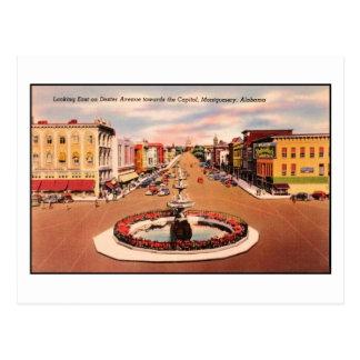 Vintage Dexter Avenue, Montgomery AL Postcard