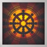 Vintage Dharma Wheel Print