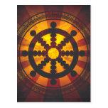 Vintage Dharma Wheel Print Postcards