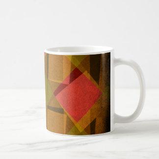 Vintage diamonds and squares pattern coffee mug
