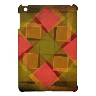 Vintage diamonds and squares pattern iPad mini cases