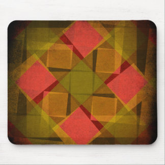 Vintage diamonds and squares pattern mouse mat