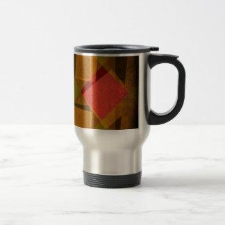 Vintage diamonds and squares pattern travel mug