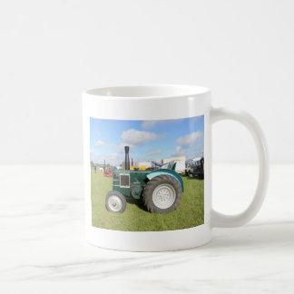 Vintage Diesel Tractor Basic White Mug
