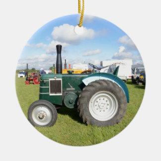 Vintage Diesel Tractor Christmas Ornament