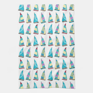 Vintage Dinghies Tea Towel