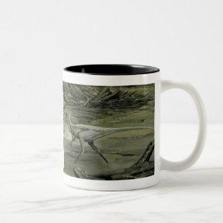 Vintage Dinosaurs, a Cretaceous Hypsilophodon Two-Tone Coffee Mug