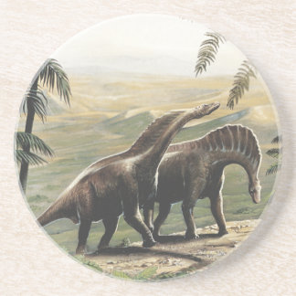 Vintage Dinosaurs, Amargasaurus with Palm Trees Coasters