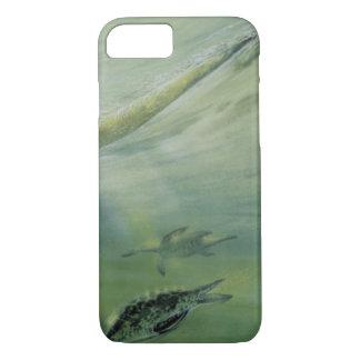 Vintage Dinosaurs, Brachiosaurus Swimming in Ocean iPhone 7 Case