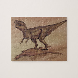 Vintage Dinosaurs, Carnivore Giganotosaurus Jigsaw Puzzle