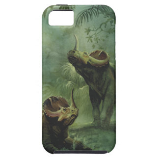 Vintage Dinosaurs, Centrosaurus in the Jungle iPhone 5 Cases