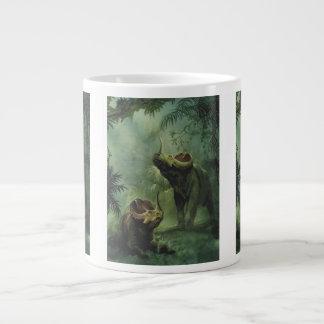 Vintage Dinosaurs, Centrosaurus in the Jungle Jumbo Mug