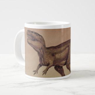 Vintage Dinosaurs, Giganotosaurus Eating Prey Jumbo Mug