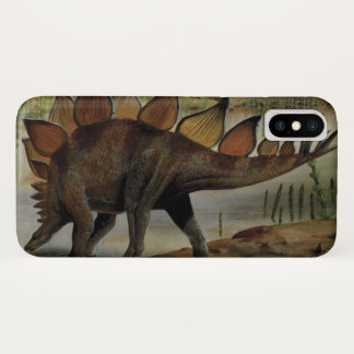 Vintage Dinosaurs, Stegosaurus, Tail with Spikes iPhone X Case
