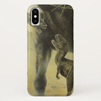 Vintage Dinosaurs, Torvosaurus and Brachiosaurus iPhone X Case