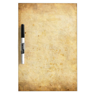 Vintage dirty parchment paper dry erase whiteboards