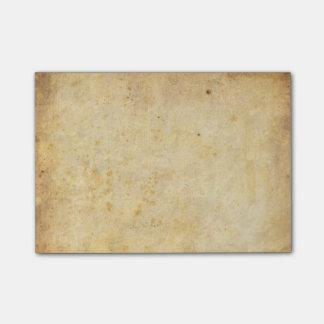 Vintage dirty parchment paper post-it notes