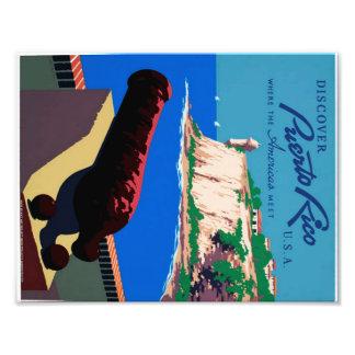 Vintage Discover Puerto Rico WPA Poster Photo Print