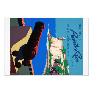 Vintage Discover Puerto Rico WPA Poster Photo Print