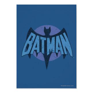Vintage Distressed Bat Symbol Card