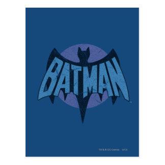 Vintage Distressed Bat Symbol Postcard