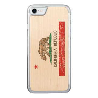 Vintage Distressed California Flag Carved iPhone 7 Case