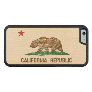 Vintage Distressed California Flag Maple iPhone 6 Bumper