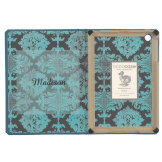 Vintage Distressed Damask with Name iPad Mini Retina Case